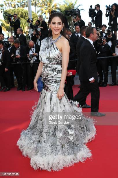 Araya Hargate attends the screening of Girls Of The Sun during the 71st annual Cannes Film Festival at Palais des Festivals on May 12 2018 in Cannes...