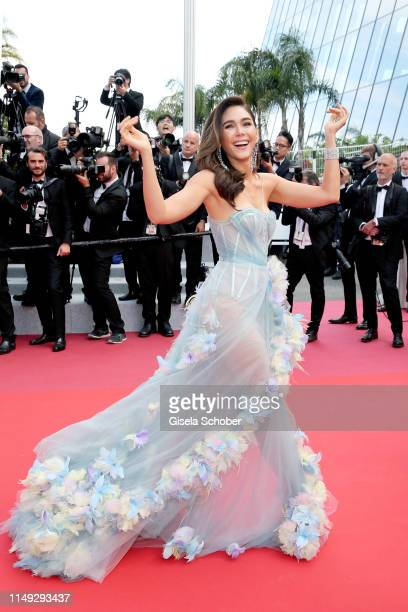 Araya Hargate attends the screening of Les Miserables during the 72nd annual Cannes Film Festival on May 15 2019 in Cannes France
