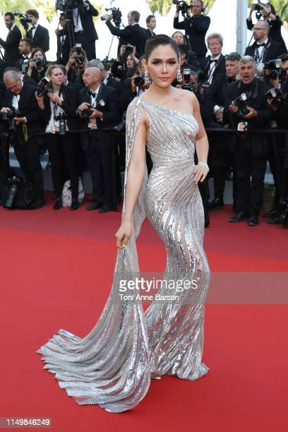 Araya Hargate attends the screening of Rocket Man during the 72nd annual Cannes Film Festival on May 16 2019 in Cannes France