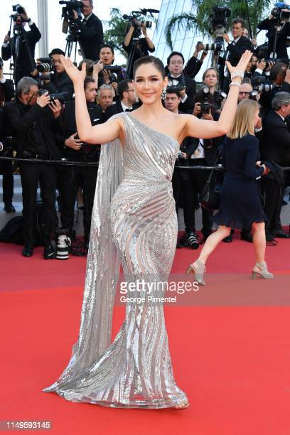 Araya Hargate attends the screening of Rocketman during the 72nd annual Cannes Film Festival on May 16 2019 in Cannes France