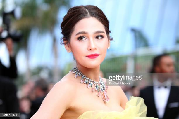 Araya Hargate attends the screening of Sink Or Swim during the 71st annual Cannes Film Festival at Palais des Festivals on May 13 2018 in Cannes...