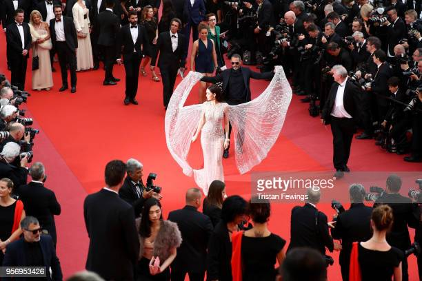 Araya Hargate attends the screening of Sorry Angel during the 71st annual Cannes Film Festival at Palais des Festivals on May 10 2018 in Cannes France