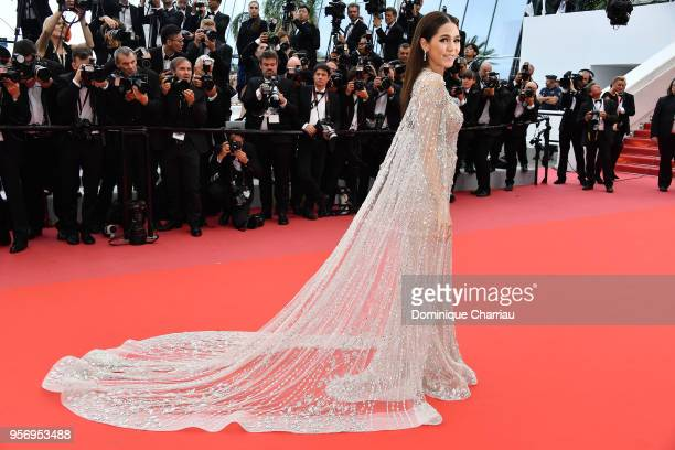 Araya Hargate attends the screening of 'Sorry Angel ' during the 71st annual Cannes Film Festival at Palais des Festivals on May 10 2018 in Cannes...