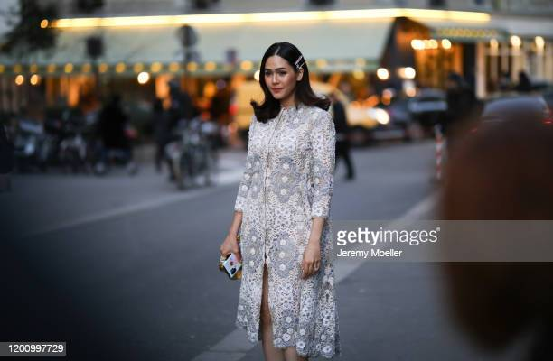 Araya Hargate before Ralph Russo on January 20 2020 in Paris France