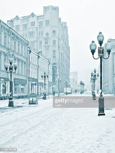 アルバト冬 street ,モスクワ,ロシア