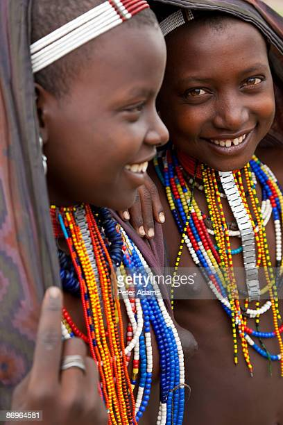Arbore girls, Omo Valley, Ethiopia
