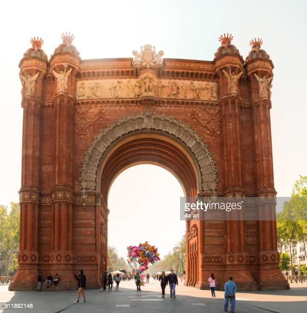 Triumphbogen in Barcelona, Spanien