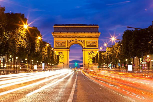 Arc De Triomphe And Avenue Des Champs-Elysees. Wall Art