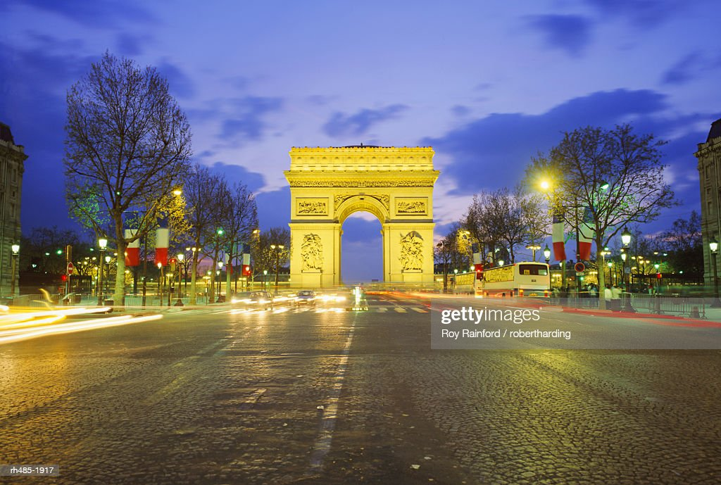 Arc de Triomphe and the Champs Elysees, Paris, France, Europe : Stockfoto