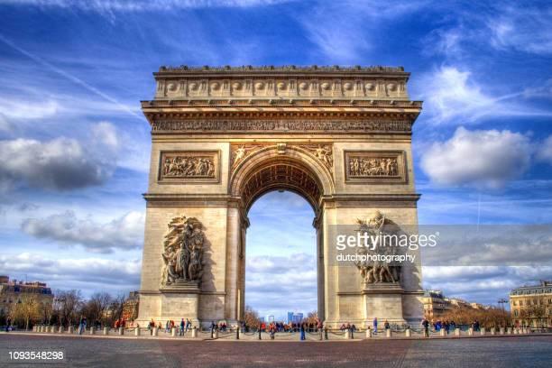 アルク ドゥ トリオンフ パリ, フランス (hdr イメージ) で - パリ凱旋門 ストックフォトと画像