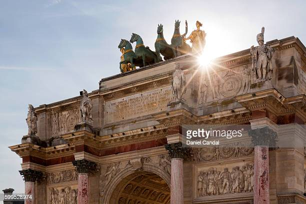 Arc De Triomphe Du Carrousel, high section, Paris, France