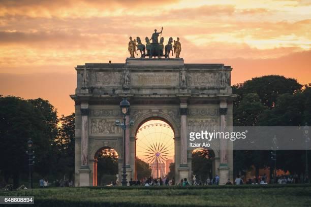 Arc de Triomphe du Carrousel near the Musee du Louvre, Paris