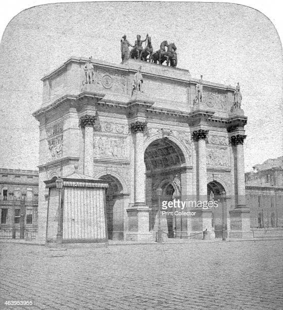 Arc de Triomphe du Carrousel Paris late 19th century One of the Parisian triumphal arches designed in Neoclassical style to recall the monumental...