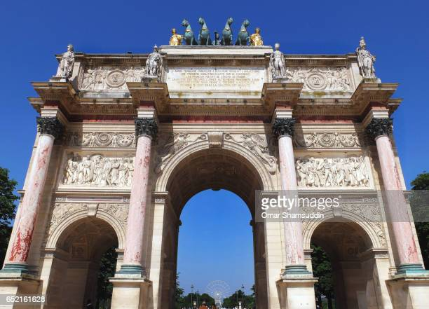 arc de triomphe du carrousel - omar shamsuddin stock pictures, royalty-free photos & images