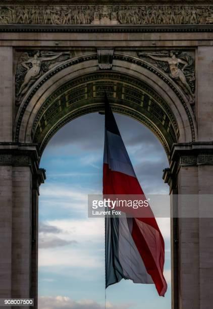 Arc De Triomphe Flag