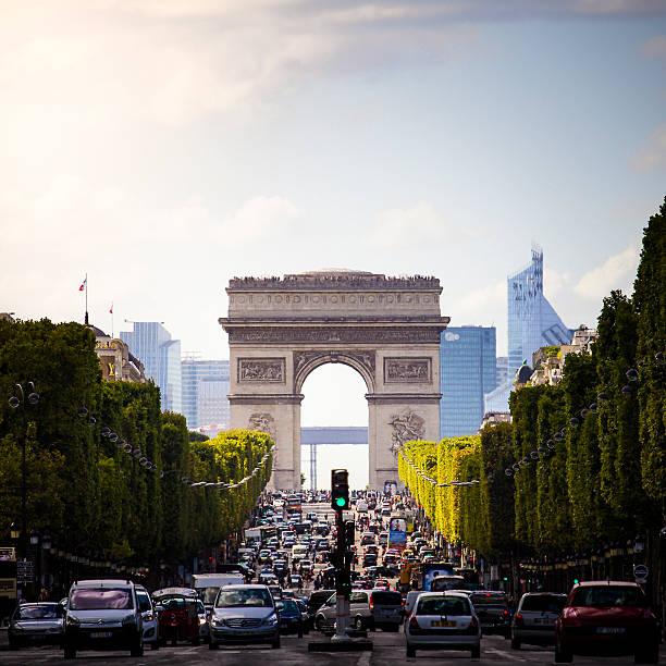 Arc De Triomphe On The Champs Elysées Wall Art