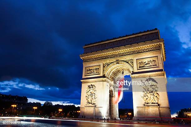 Arc De Triomphe Paris at night