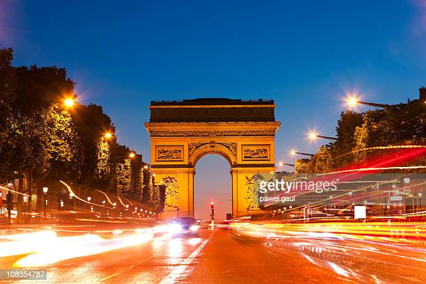 Arc de Triomphe, Paris by night