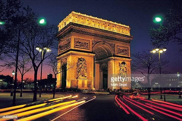 arc de triomphe, paris, france - triumphal arch stock photos and pictures