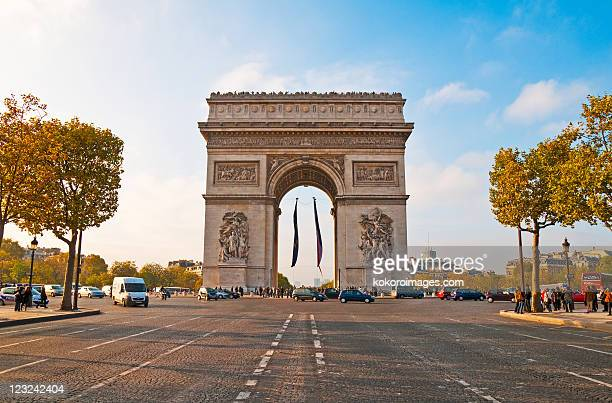 arc de triomphe - place charles de gaulle paris stock photos and pictures