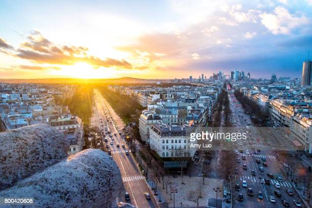arc de triomphe - champs elysees quarter stock pictures, royalty-free photos & images