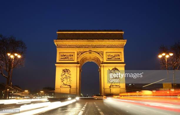 Arc De Triumph at dusk