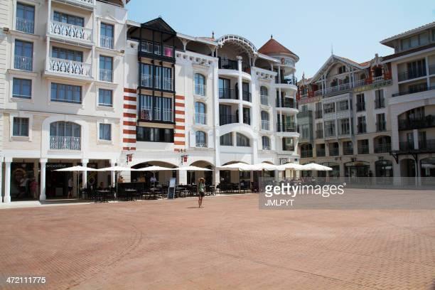 Arcachon, ville urbaine, complexe hôtelier de bord de mer, Aquitaine, France