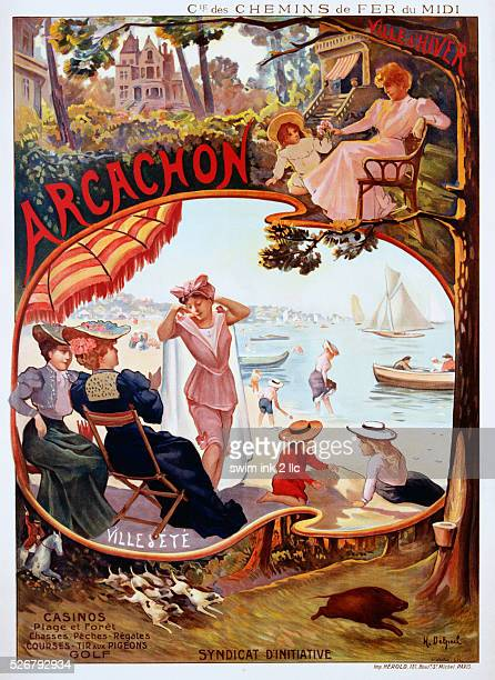 Arcachon Poster by H Delpech