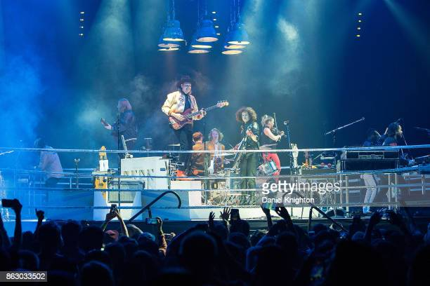 Arcade Fire performs on stage at Viejas Arena on October 18 2017 in San Diego California