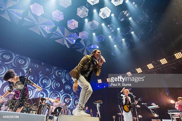 Arcade Fire performs onstage at The Forum on August 1 2014 in Inglewood California