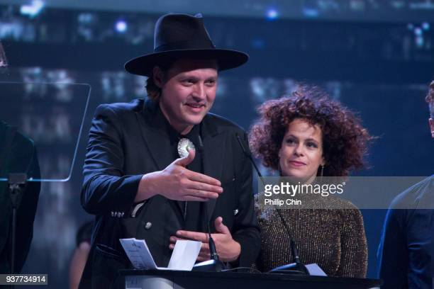 Arcade Fire receives the International Achievement Award at the Juno Gala Dinner and Awards at the Vancouver Convention Centre on March 24 2018 in...