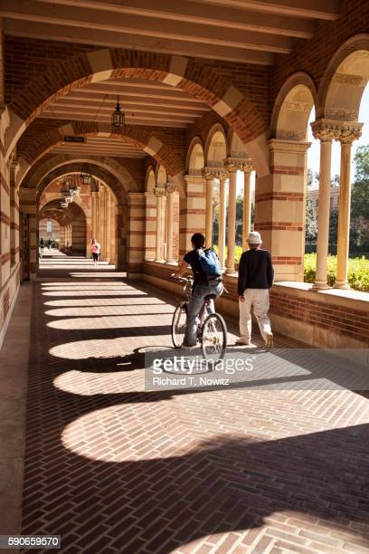 arcade of royce hall - westwood neighborhood los angeles stock pictures, royalty-free photos & images
