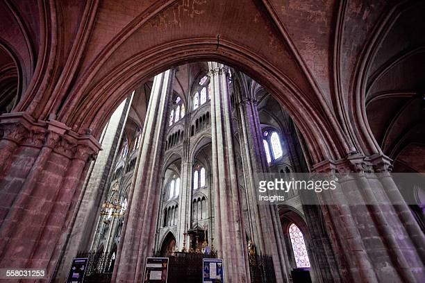 Arcade Separating The Aisle And Nave Of The Cathedral Of St Etienne Of Bourges Bourges Cher France