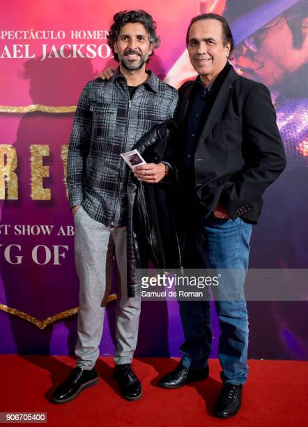 Arcangel and Pepe de Lucia attend âForever Jackson' Madrid Premiere on January 18 2018 in Madrid Spain