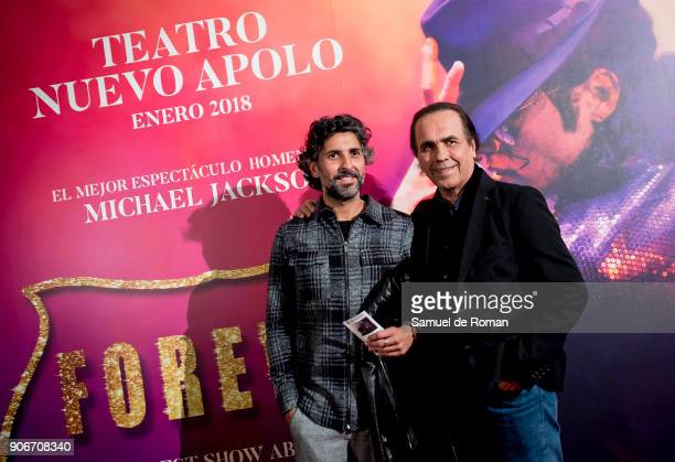 Arcangel and Pepe de Lucia attend 'Forever Jackson' Madrid Premiere on January 18 2018 in Madrid Spain