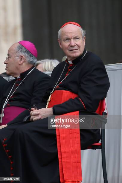 Arcbishop of Wien Christoph Schonborn attends Pope Francis' weekly audience in St. Peter's square on May 16, 2018 in Vatican City, Vatican....