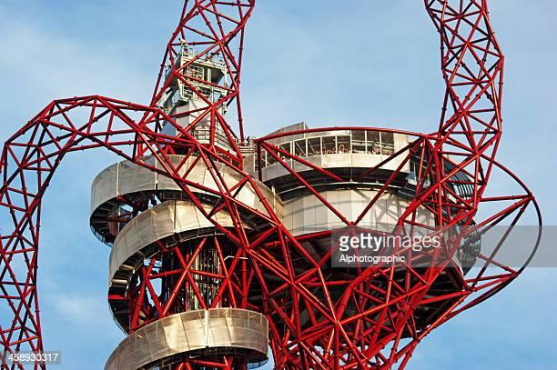 アルセロールミッタルオービット、ロンドンオリンピック公園 - オリンピック公園 ストックフォトと画像