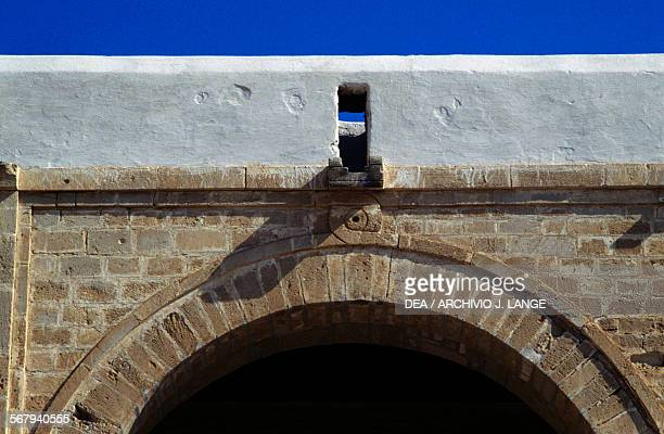 Arch architectural element in the Mosque of 'Uqba or Great Mosque of Kairouan Kairouan Governorate Tunisia 9th century Detail