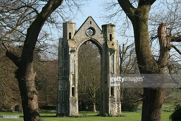 Arch at Walsingham Abbey , Norfolk