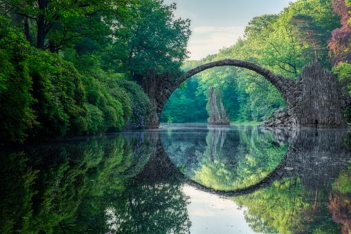 Arch Bridge (Rakotzbrucke) in Kromlau 539121576