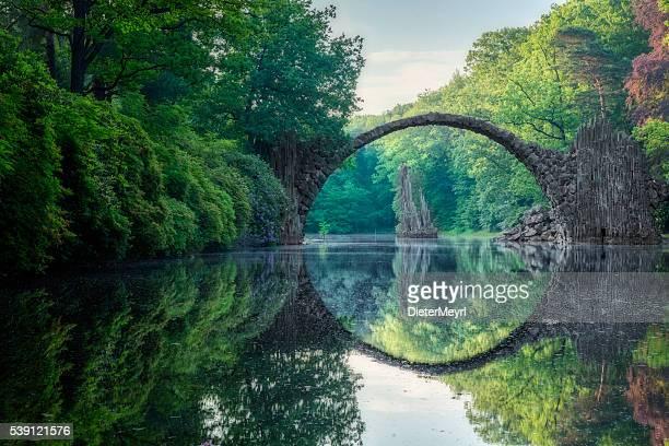 Arch Bridge (Rakotzbrucke) in Kromlau
