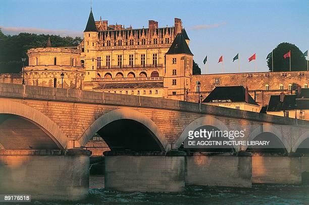 Arch bridge near a castle Chateau d'Amboise Amboise Centre France