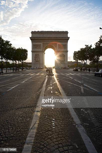Arch de Triomphe at sunset