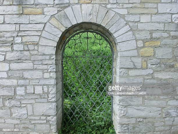 Arch Door In Stone Wall