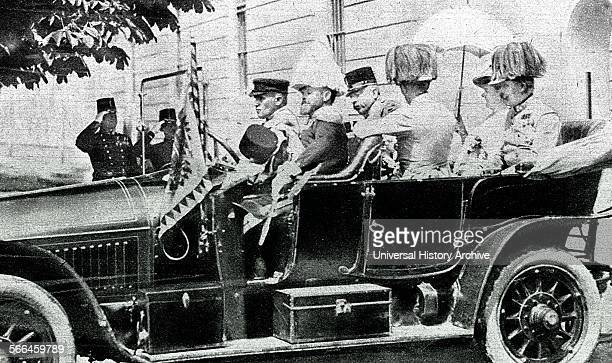 Arch Duke Franz Ferdinand and his wife as they depart for the journey into Sarajevo where they were assassinated 28th June 1914