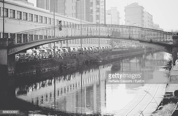Arch Footbridge Over Canal