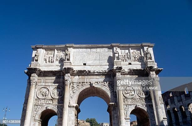 Arch of Constantine 315 AD Historic Centre of Rome Lazio Italy Roman civilisation 4th century AD