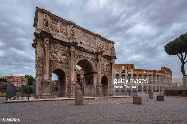Arch of Constantine and Colosseum, Rome, Italy, Europe