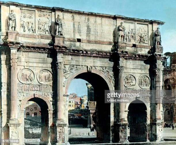 Arch of Constantine at Rome Italy 1920s