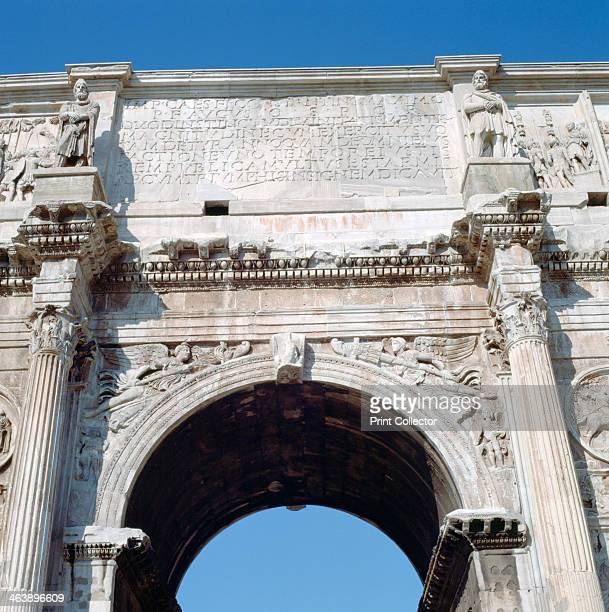Arch of Constantine Rome 4th century The Arch of Constantine is a triumphal arch in Rome situated between the Colosseum and the Palatine Hill It was...